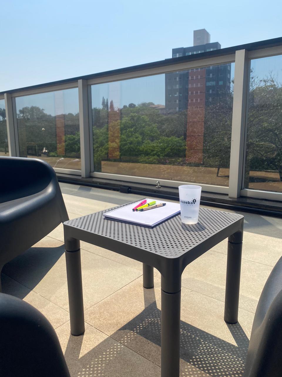 escritorio ao ar livre